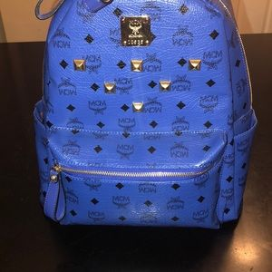 Blue mcm backpack (bookbag)